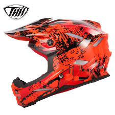 THH Motorcycle Off-road Helmet Mountain Bike Helmet Full Face ...