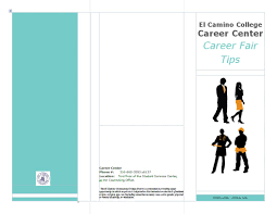 career pamphlets brochures career fair tips