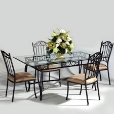 dining room sets from iron dining table set with rectangular glass tabletop combine with black black wrought iron table