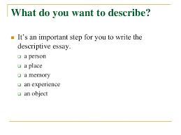 descriptive place essay Descriptive Essay Of A Person Example   Rajipesek Resume Gets You     Descriptive Essay