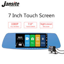<b>Jansite</b> 7 Inch Touch Screen <b>Car DVR Dual</b> Lens <b>Car Camera</b> ...