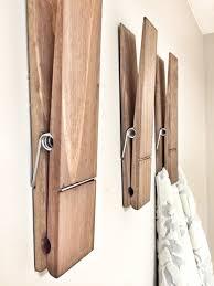 country themed reclaimed wood bathroom storage: super huge jumbo rustic quot decorative clothespin in dark walnut finish office home bathroom nursery laundry wall decor note photo holder