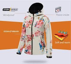 2018 <b>new</b> lady prints soft shell jacket woman <b>autumn winter outdoor</b> ...