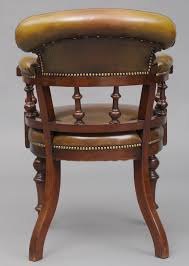 english antique victorian mahogany leather desk chair antique leather office chair