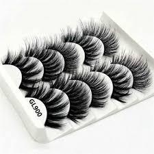 <b>5 Pairs</b> Multipack 5D Soft <b>Mink</b> Hair False Eyelashes Handmade ...