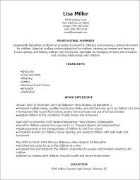 professional babysitter resume templates to showcase your talent    resume templates  babysitter resume