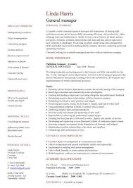 general manager cv sample  responsible for daily operations and    general manager cv sample  responsible for daily operations and business performance  resume