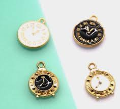 <b>10pcs</b>/<b>lot</b> Alarm clock <b>Charm Oil Drop</b> Zinc Alloy Colourful horologe ...