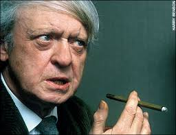 """Anthony Burgess By Harry Benson, 1993. """"Harry Benson shoots journalism and he's such a veteran. He travels light and doesn't set things up that much. - arts-graphics-2008_1131712a"""