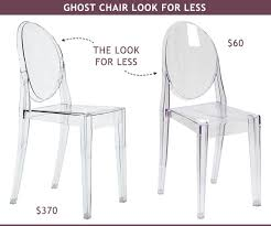 ghost chair look for less 370 vs 60 desk dining bathroomlovely lucite desk chair vintage office clear