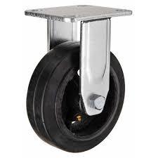 Большегрузное обрезиненное <b>неповоротное колесо</b> Д-100 мм ...