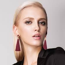 <b>NEW</b> Women <b>Fashion Rhinestone</b> Long Tassel Dangle Earrings ...