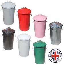 traditional powder coated steel kitchen bin l litre galvanised metal kitchen bin tall slim rubbish waste dustbin s