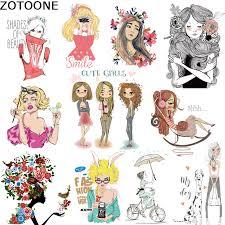 <b>ZOTOONE Beautiful</b> Fashion Girls Iron on A level Patches Heat ...