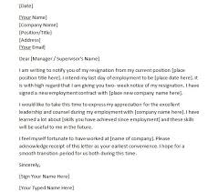 40 two weeks notice letters resignation letter templates two weeks notice 38