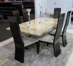 rectangle contemporary marble dining