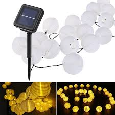 Lantern Ball Solar String Lights 10 20 <b>30 LED Solar</b> Lamp Outdoor ...