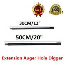 "12""<b>30CM</b>/20""<b>50CM</b> Pro <b>Extension Auger</b> Hole Digger <b>Bit</b> 3/4"" Shaft ..."