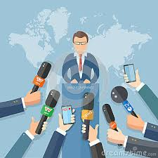 Risultati immagini per parlare al microfono con giornalisti tv