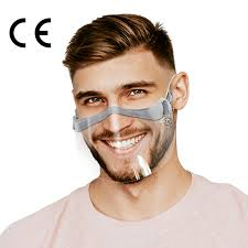 <b>FACE SHIELD</b> - Transparent <b>mask</b> for mouth and nose - 2 pcs ...