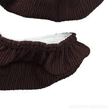 Brown 2 <b>Pcs Stretchable</b> Universal Office <b>Chair</b> Armrest Slipcovers ...