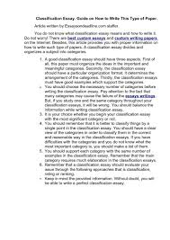 examples of a classification essay template examples of a classification essay