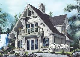 images about Lakefront Cottage  amp  home plans  Country Cottage    House plan W   beautiful get away cottage  vintage chalet  balcony  panoramic view