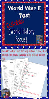 cold war map activity activities keys and war world war ii test includes matching multiple choice short answer and essay