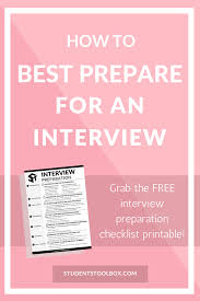interview archives students toolbox how to best prepare for an interview