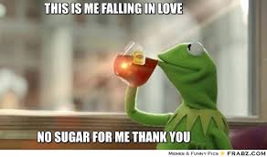 This is me falling in love... - Kermit Tea Frog Meme Generator ... via Relatably.com