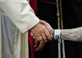 pope francis and supreme court on cruel and unusual punishment pope francis shakes hands an inmate as he meets prison