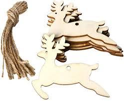 10pcs diy wooden christmas tree
