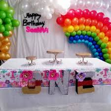 Party Blingz - rainbow theme <b>birthday party arranged</b> for...
