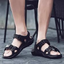<b>leather</b> flats <b>Sandals</b> For <b>Men</b> Cheap Pu <b>Leather Men'S Sandals</b> ...