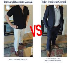 fast food critic tackles portland s professional dress code another issue the businesswear of the past is one of pop culture a person in a suit and tie trying to get in the ad game looks like someone who