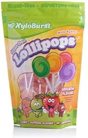 XyloBurst <b>Lollipop Sugar Free</b> with <b>Xylitol</b> 50 Count Bag Mixed Flavors