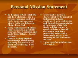 personal mission statement by kwame payne personal mission statement i® i® i® by the grace of god i shall live and die