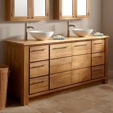 l superior diy bathroom furniture design interior natural oak wood rectangle cabinet with double white vessel bowl vanity using great polished chrome awesome pottery barn bathroom vanity decor