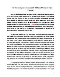 a level history essay essay on ways in which henry vii was successful   a level history
