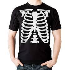 Big Red Egg Skeleton <b>Men's Black</b> Cotton T-Shirt Present Fancy Dress
