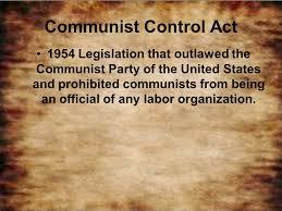 「Communist Control Act of 1954」の画像検索結果