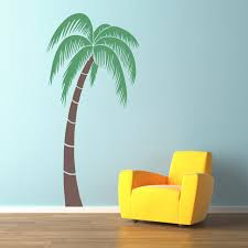palm tree wall stickers: palm tree wall decal extra large  foot matte black tropical