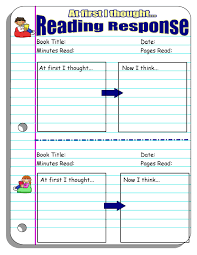 five minute reading responses scholastic i ve had students fill this response out out its even being assigned because they ve had a sudden epiphany while reading that they want to put down in