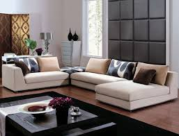 marvellous modern contemporary living room design ideas with cream color fabric sectional sofa sets also black black modern living room furniture
