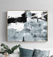 Black and White <b>Abstract</b> Painting <b>Minimalist</b> Art, <b>Modern</b> Wall Art ...