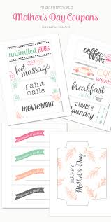 printable mother s day coupons i m sure any mom will appreciate some pampering on her special