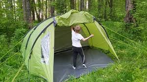<b>Палатка</b> четырехместная <b>TREK PLANET Ventura</b> 4, зеленый цвет