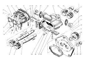Насос <b>масляный</b> 32-6000 (32-6000-02) запчасти <b>двигатель</b> 6ЧН ...