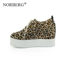 <b>NORBERG 2019 Summer</b> Women Casual Shoes High HeelLeopard ...