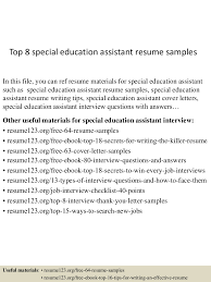 top8specialeducationassistantresumesamples 150516021807 lva1 app6892 thumbnail 4 jpg cb 1431742734
